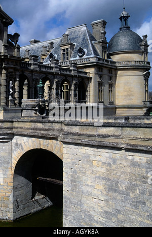 france picardy ile de france chateau chantilly - Stock Photo