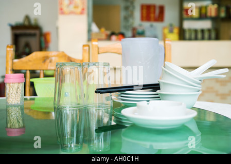 Dishes on table