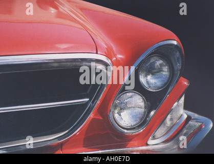 1962 Chrysler New Yorker headlight and grill detail - Stock Photo