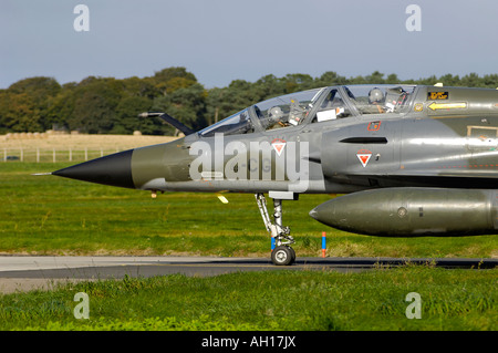 Dassault Mirage 2000N French Military Marine Navy Two Seat Trainer Variant Air Superiority Attack Fighter Jet - Stock Photo