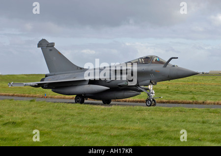 The Dassault Rafale M (or 'Squall' in English) is a French twin-engined delta-wing highly agile multi-role fighter - Stock Photo