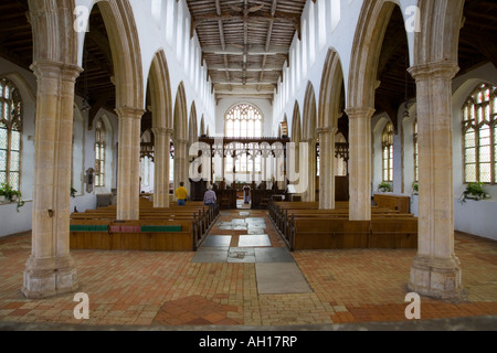 The central nave of Holy Trinity, Blythburgh, Suffolk, England - Stock Photo