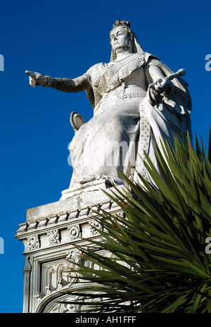 statue of queen victoria at southend, essex, england - Stock Photo