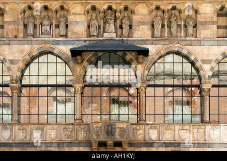 Detail of Loggia degli Osii, Piazza dei Mercanti, Milan, Italy - Stock Photo