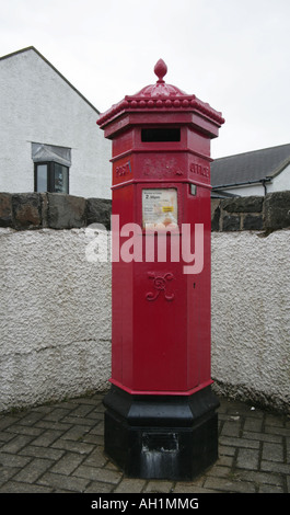 Victorian pillar box at Giants Causeway Visitor Centre Antrim Coast Northern Ireland - Stock Photo