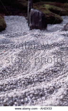 Zen garden in Daitokuji Temple Kyoto Japan - Stock Photo