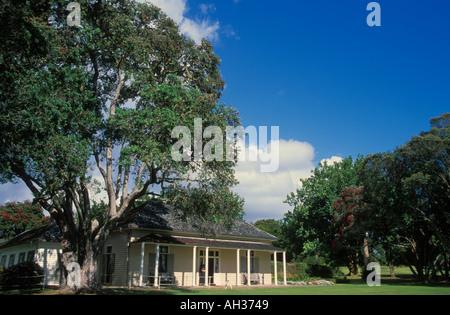 The Treaty House at Waitangi near Paihia Bay of Islands North Island New Zealand - Stock Photo