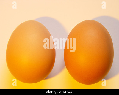 Two eggs GB UK 2004 - Stock Photo