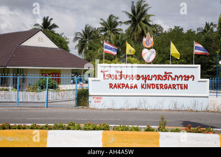 Rakpasa kindergarten on the outskirts of Banchang AKA Bangchang Near Rayong in Thailand - Stock Photo