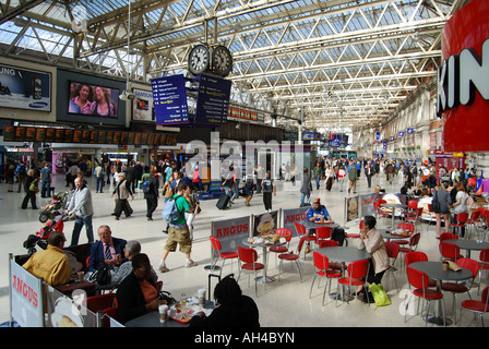 Waterloo Railway Station Interior, South Bank, London, England, United Kingdom - Stock Photo