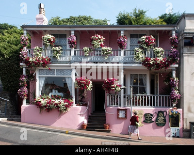 Ventnor Isle of Wight The Country House Tea room       tea room uk Ventnor Isle Wight - Stock Photo