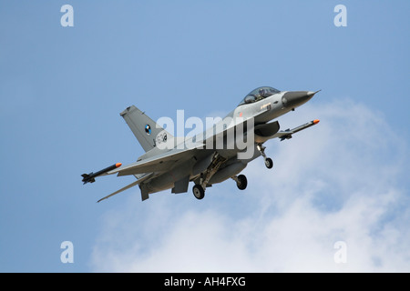 Dutch Air Force F-16 jet fighter - Stock Photo