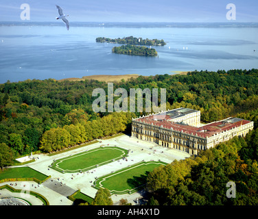 DE - BAVARIA: Herrenchiemsee Castle and Lake Chiemsee
