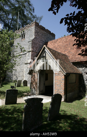 St Mary s church in the chiltern village of Turville has been used many films and TV programmes - Stock Photo