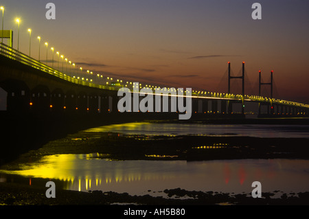 The new Severn Bridge Avon and Somerset England - Stock Photo
