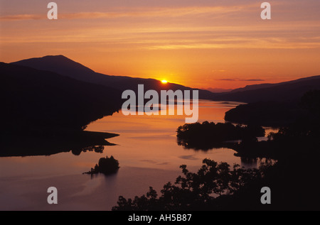 The Queens View Loch Tummel Pitlochry Perthshire Perthshire Scotland  GPL 1002 - Stock Photo