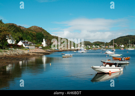 The fishing village of Tayvallich on Loch Sween - Stock Photo