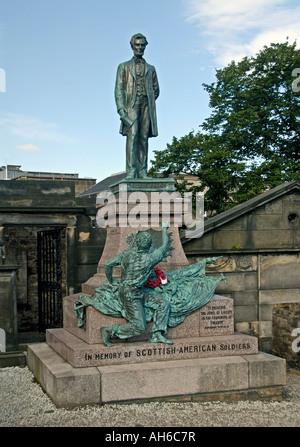 Scottish-American Civil War Memorial , Calton Old Cemetary , Edinburgh , Scotland , U . K . , Europe . - Stock Photo