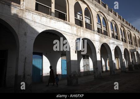 Daily life on Massawa Island, Massawa, Eritrea, Africa - Stock Photo