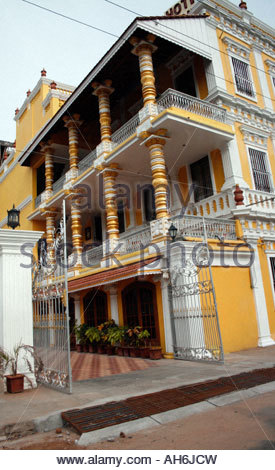 French colonial architecture in Pondicherry Puducherry Tamil