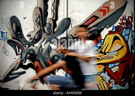 Italy, Milan 2007. Street art - Stock Photo