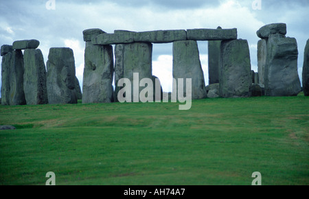 Stonehenge near Amesbury Wiltshire England - Stock Photo