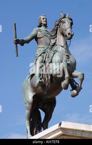 Madrid Spain Statue of Philip IV in Plaza de Oriente