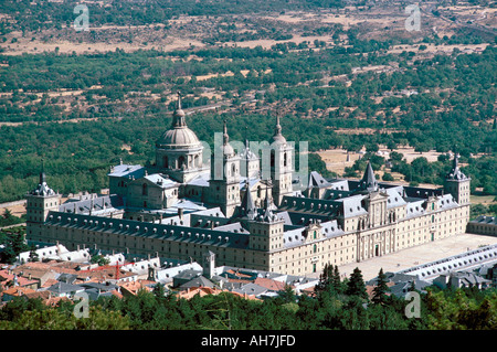 El Escorial UNESCO World Heritage Site Madrid Spain Europe - Stock Photo