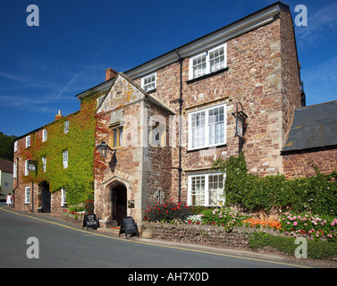 Public House in the Village of Dunster, Somerset, England, UK - Stock Photo