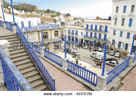 Algeria, Little Kabylia, Bejaïa, view from the balcony in front of the Sidi El Mouhoub Mosque - Stock Photo
