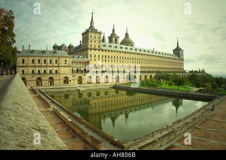 San Lorenzo de El Escorial Madrid Province Spain El Escorial monastery - Stock Photo