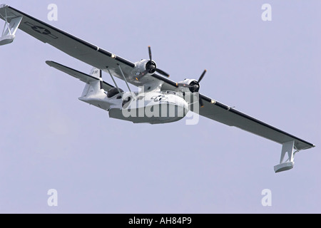 consolidated pby catalina flying boat sea float - Stock Photo