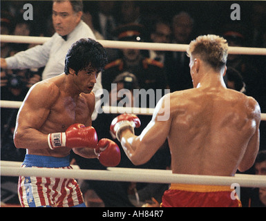 ROCKY IV 1985 MGM UA film with Sylvester Stallone and Dolph Lundgren - Stock Photo