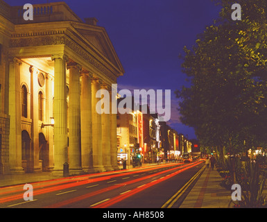 Dublin Ireland General Post Office GPO in O Connell Street night - Stock Photo