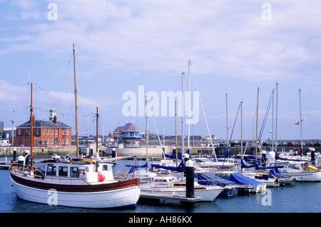 Hartlepool marina County Durham boats England UK - Stock Photo