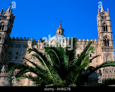Cathedral Palermo island of Sicily Italy Mediterranean Europe - Stock Photo
