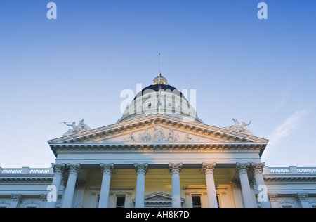 Early morning light on the California State Capitol, Sacramento California. - Stock Photo
