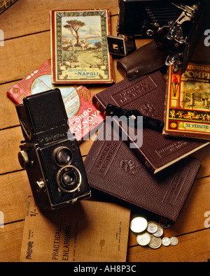 AAD71572 Rolleiflex Camera First TLR Evolution of Photography - Stock Photo