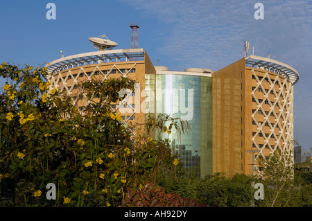 Post Modern building in Hi tech city Hyderabad Andhra Pradesh India - Stock Photo