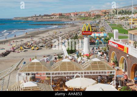 Spain canary islands tenerife costa adeje playa del duque in the stock photo royalty free - Mcdonald s puerto de la cruz ...