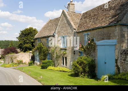 The Malthouse in the Cotswold village of Windrush, Oxfordshire - Stock Photo