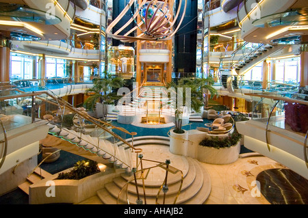 The main entry of Royal Caribbean s Vision Class Ship Rhapsody of The Seas - Stock Photo