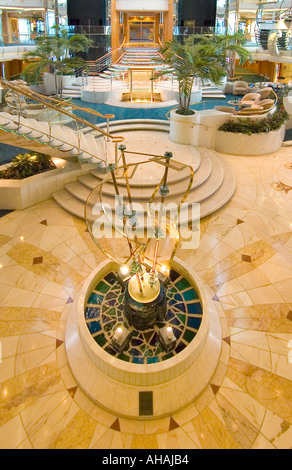 The atrium of a luxury cruise ship - Stock Photo