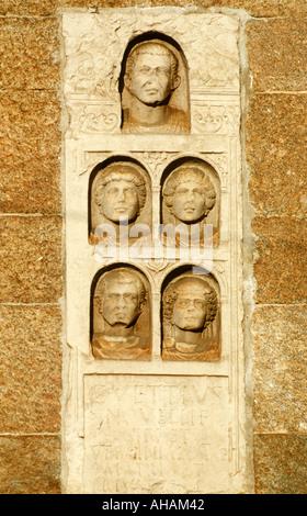 Milan Italy Roman remains on the Archi di Porta Nuova - Stock Photo