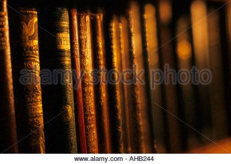 Old books in bookstore - Stock Photo