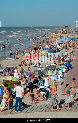The beach of Malo les Bains, near Dunkirk (Dunkerque-Flanders-France) - Stock Photo