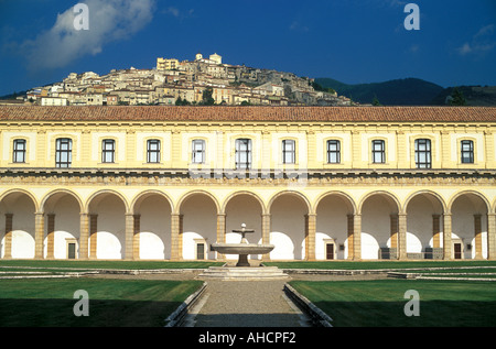 The monastery of Padula Certosa di San Lorenzo Campania Italy - Stock Photo