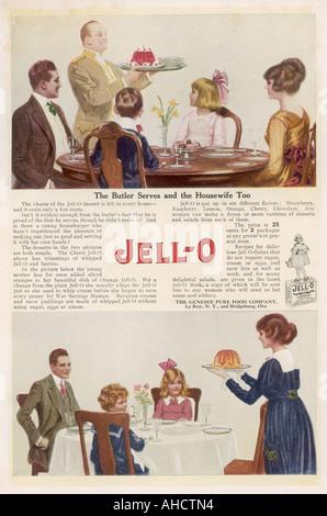 Jell O Advertisement - Stock Photo