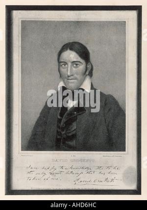 Davy Crockett 1786 1836 - Stock Photo