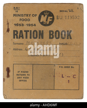 Ration Book 1953 1954 - Stock Photo